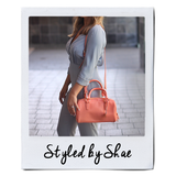 Celeste Satchel (Mini) - Coral Peach
