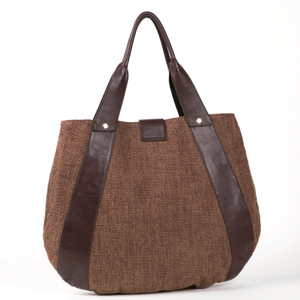 Leather & Tweed Weekender Bag (Cocoa)