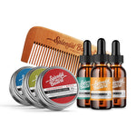 Set: 6 Mini Balms & Oils with Beard Comb