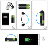 BX Mini Portable AA Battery Powered Cell Phone Charger