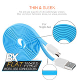 BX Flat tangle-Free Cable Micro USB to USB