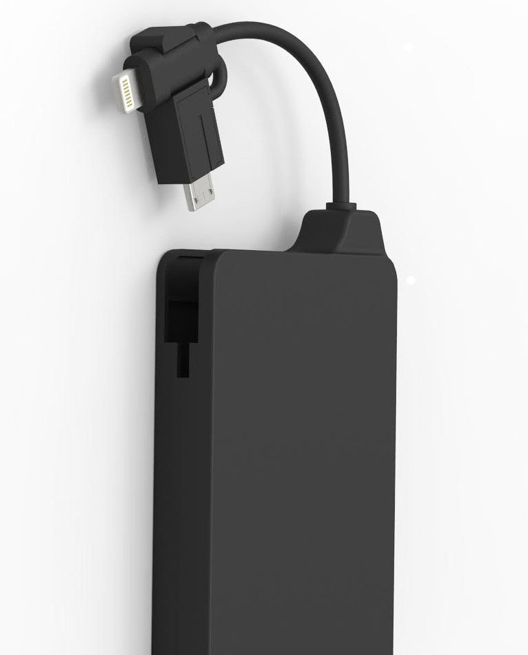 BX 2-IN-1 SMART CHARGER WITH BUILT IN MICRO  USB AND 8 PIN TIP