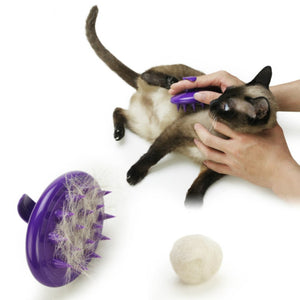 Pet Booty Soft Silicone Pins pet Deshedding Brush