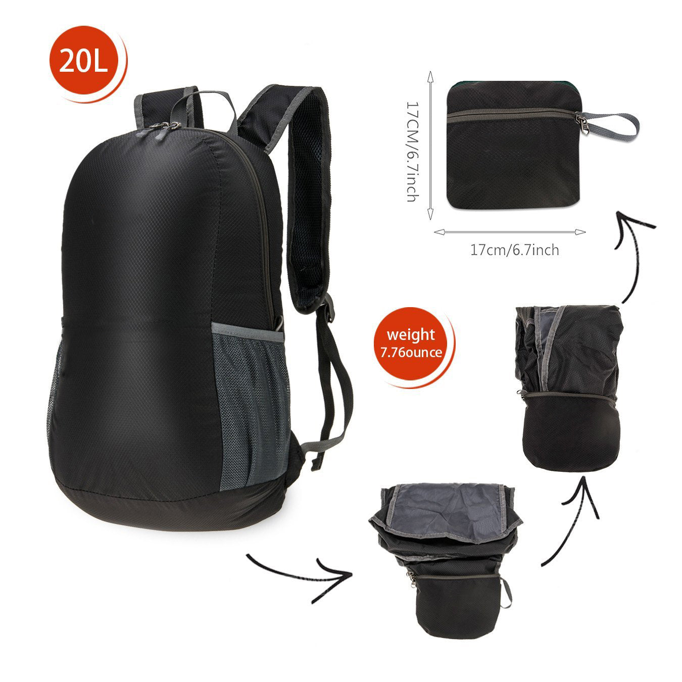 BX  Ultra Lightweight Packable Backpack