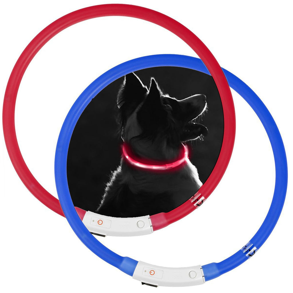 Pet Booty Rechargeable Silicone Tube Pet Collar LED Dog Safety Collar