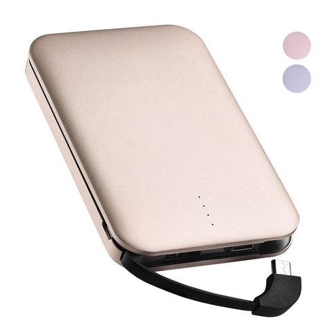 BX Portable Power Bank Built-in cable with Micro USB and 8 pin tips 5,000 mAh