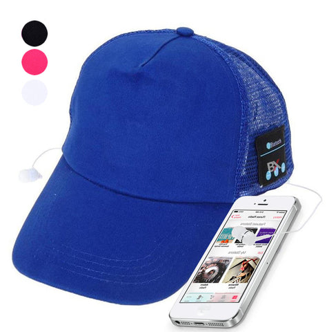 BX Mesh Baseball Cap With Built in Wireless Earphones