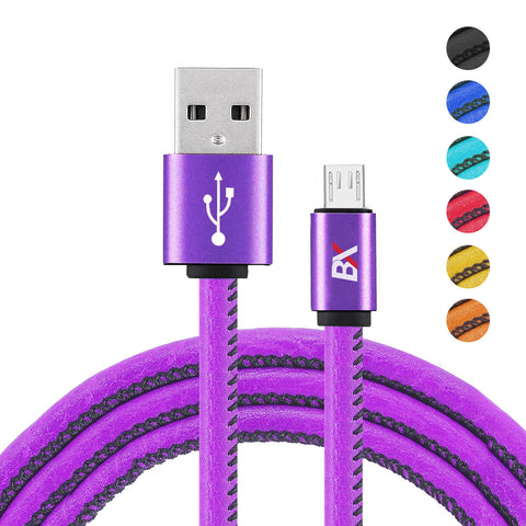 BX Leather Wrapped Cable Micro USB  to USB