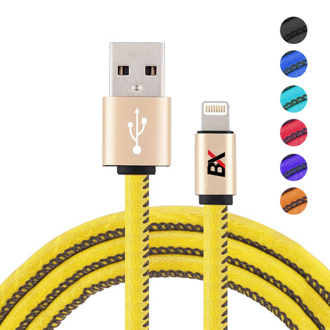 BX Leather Wrapped Cable 8 pin to to USB