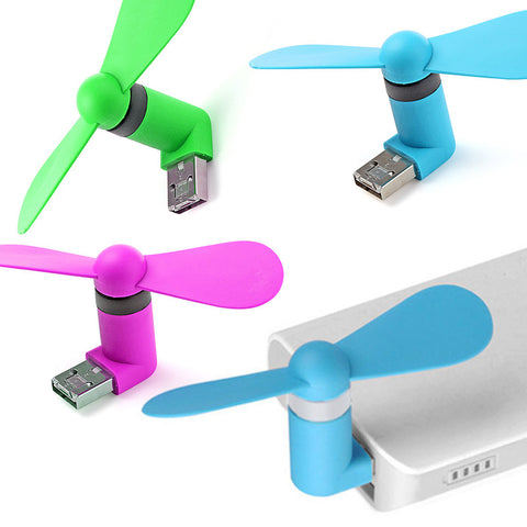 BX 2in1 Micro USB Mini Fan