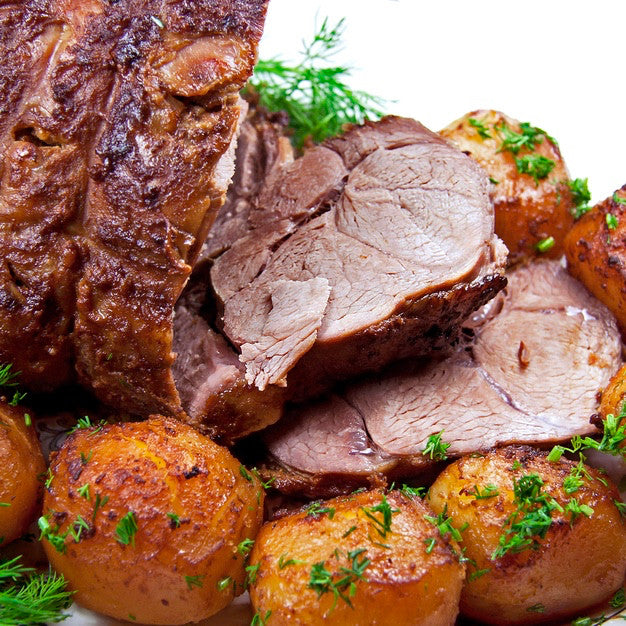 Leg of Lamb (3.3 lbs) - Family Friendly Farms Grass Fed and Pasture Raised Meats
