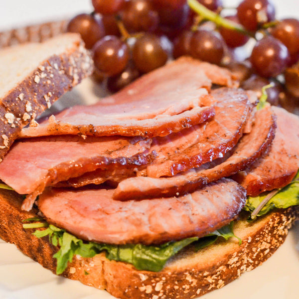Natural Smoked Sliced Ham (2 lbs) - Family Friendly Farms Grass Fed and Pasture Raised Meats