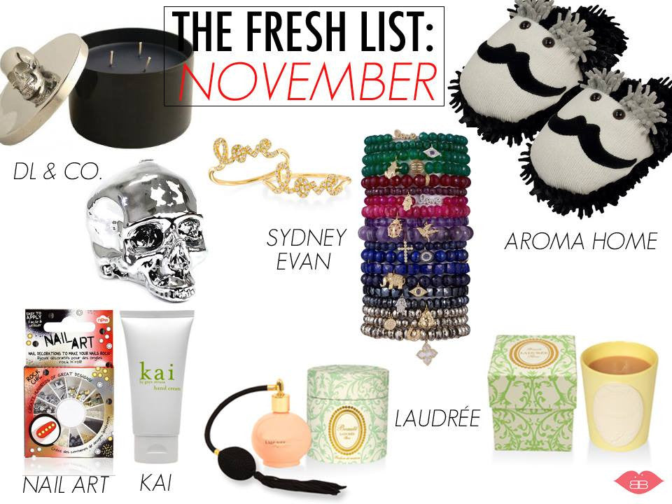 The fresh list: november