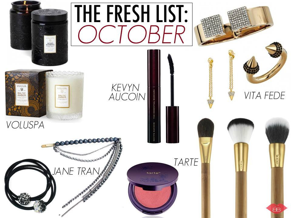 the fresh list: october