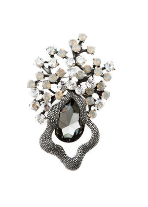 opal & black diamond brooch || theia || beautybar