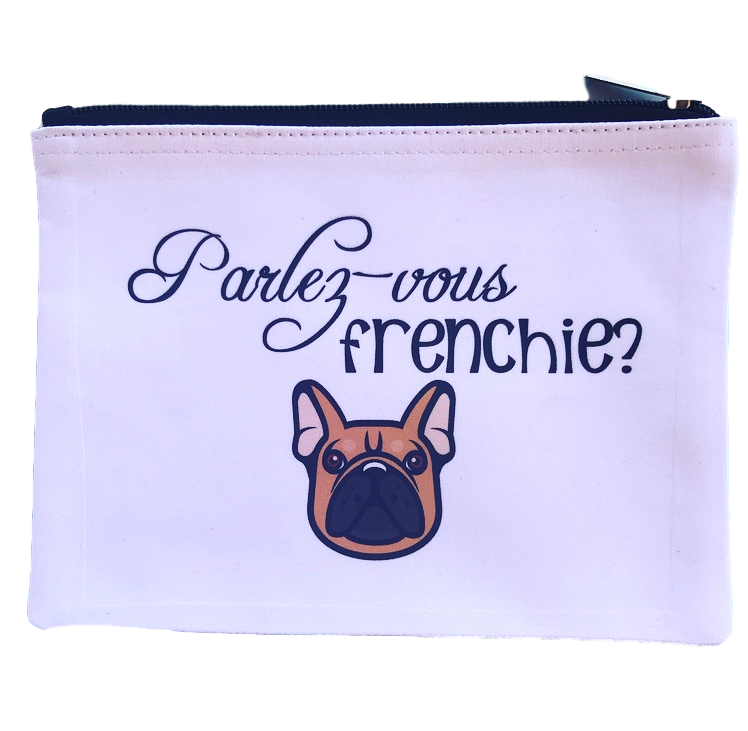 Parlez Vous Frenchie Pouch