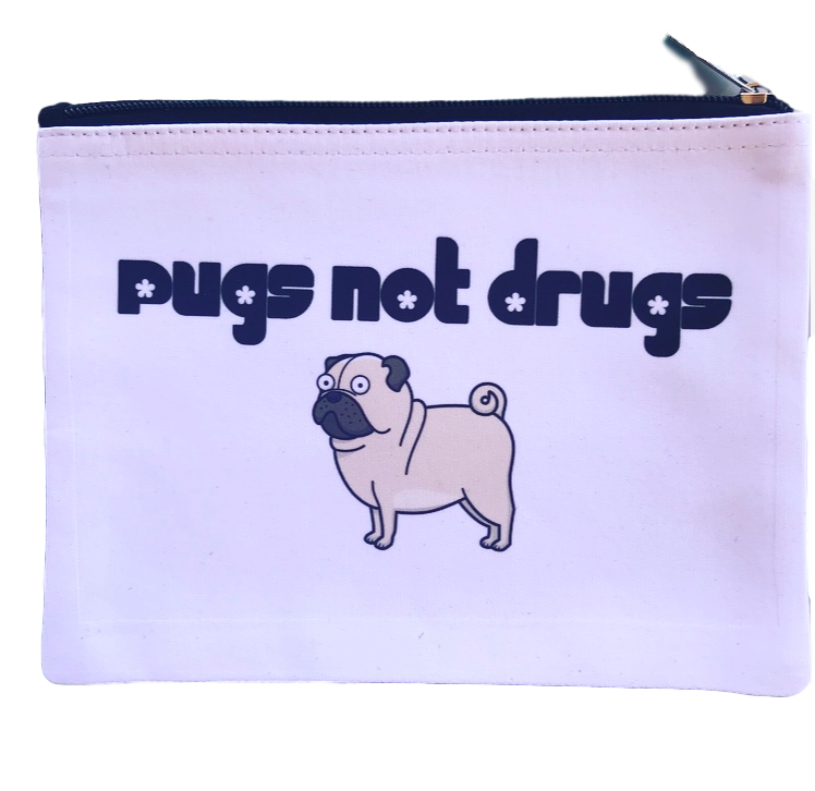 Pugs Not Drugs Pouch || Dandy Like Candy || Beautybar