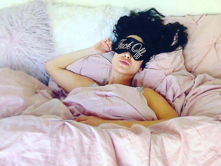Fuck Off Sleep Mask Gold || the sleepy cottage || beautybar