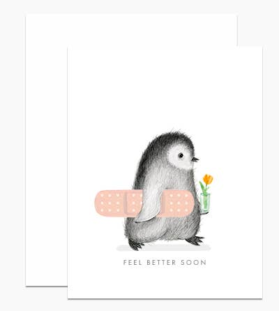 Feel Better Penguin Card