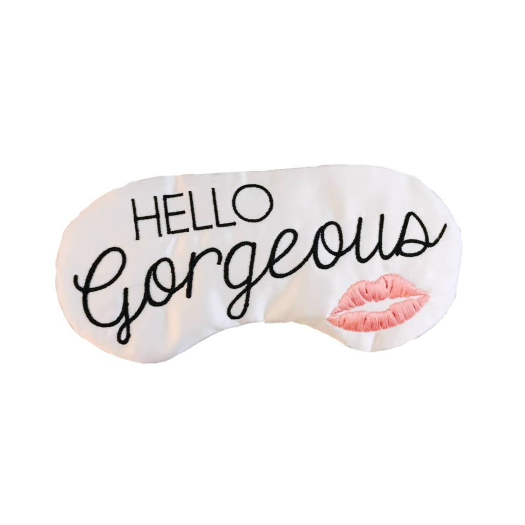 Hello Gorgeous Kiss Sleep Mask || the sleepy cottage