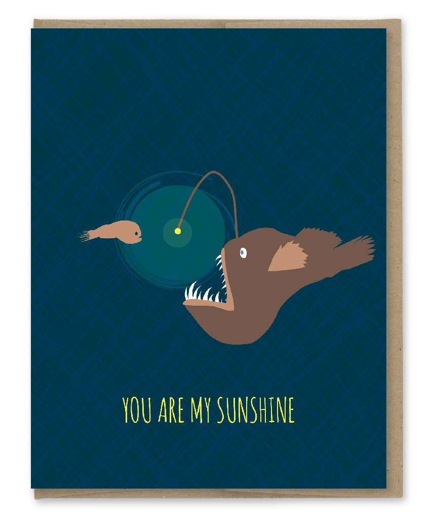 Sunshine and Angler Fish Card