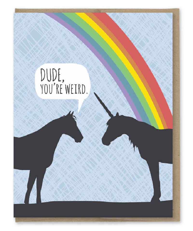 Unicorn Weird Birthday Card