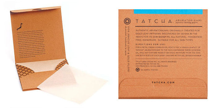 original aburatorigami blotting sheets || tatcha