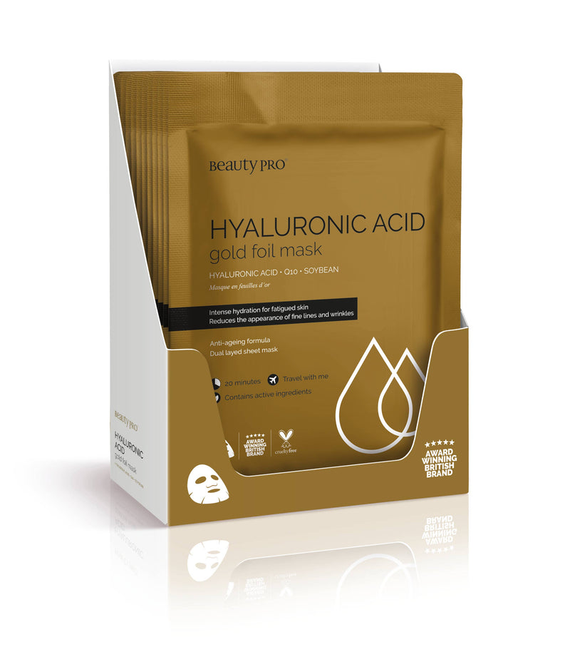 HYALURONIC ACID Gold Foil Mask || BeautyPro || Beautybar