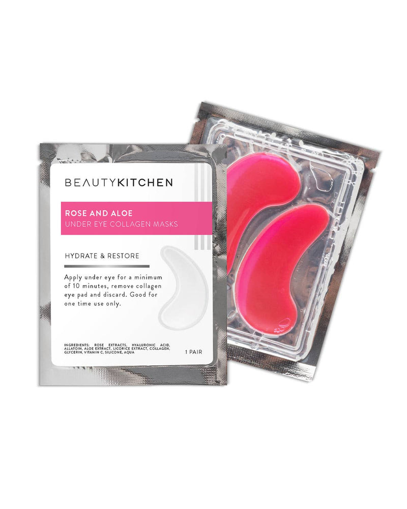 Rose & Aloe Collagen Eye Gels || Beauty Kitchen || Beautybar
