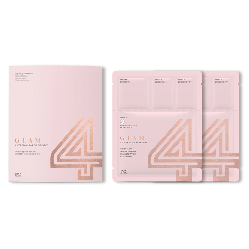 Glam 4-Step Facial box of 2 Pouches