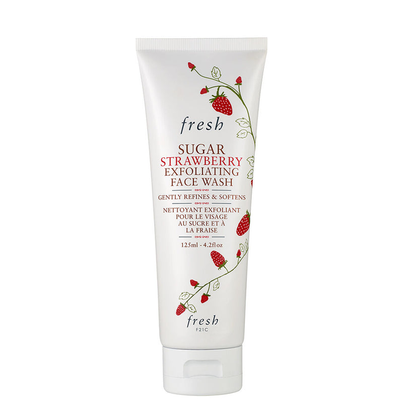 sugar strawberry exfoliating face wash || fresh || beautybar