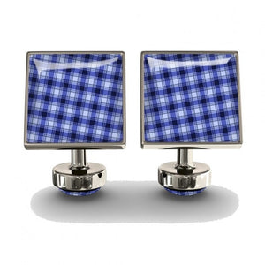gingham blue cufflinks || wurkin stiffs || beautybar