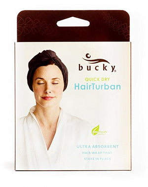 bucky charcoal quick dry hair turban