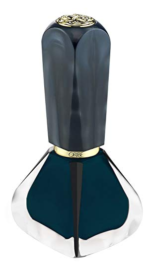 the lacquer high shine nail polish - deep teal || oribe