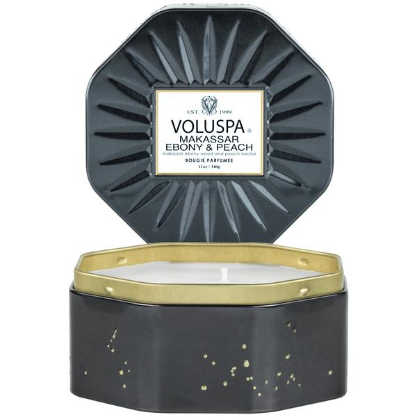 Ebony & Peach 3 Wick Octagon || Voluspa || Beautybar