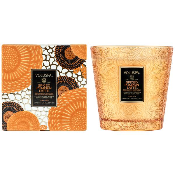 Spiced Pumpkin Latte 2 Wick Hearth Candle || voluspa