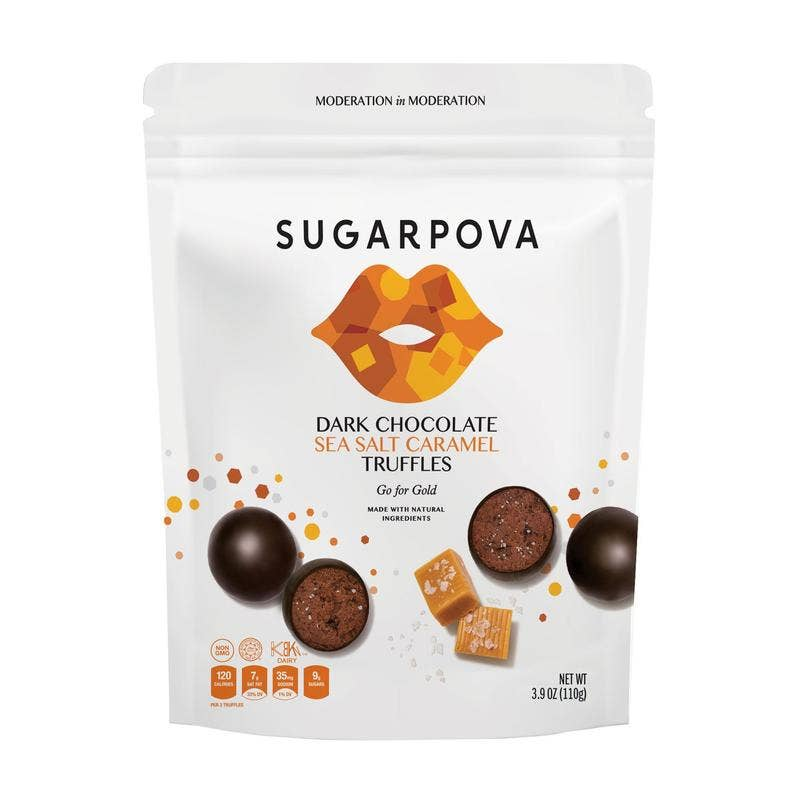 Dark Chocolate/Sea Salt Caramel Truffles || sugarpova || BB