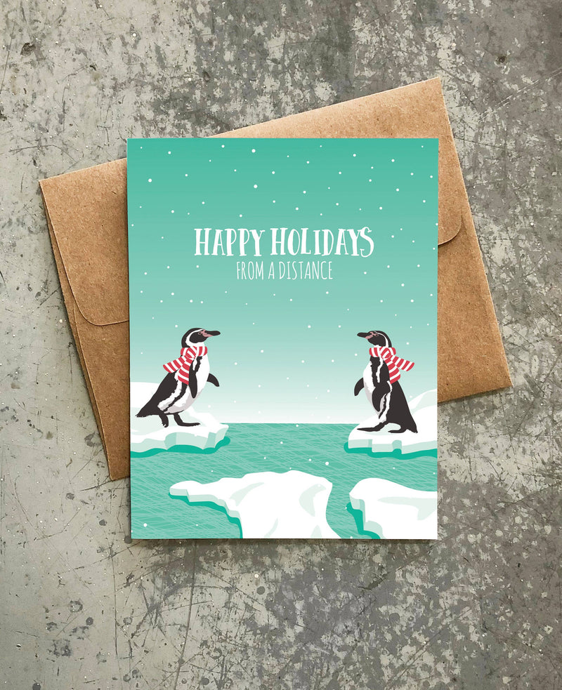 Penguins Distance Holiday Card - Box of 8