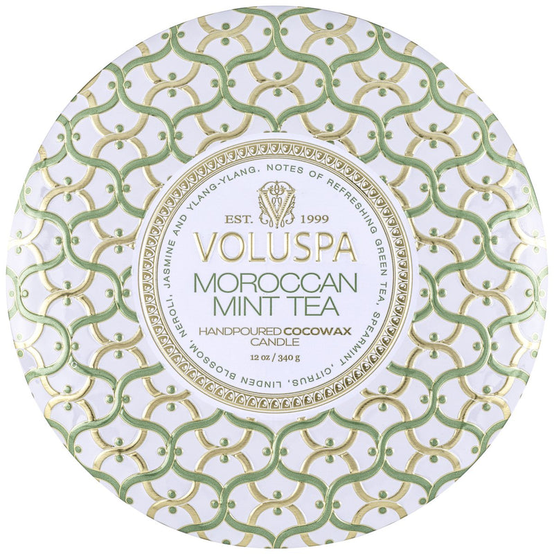 Moroccan Mint Tea | 3 wick tin || Voluspa || Beautybar