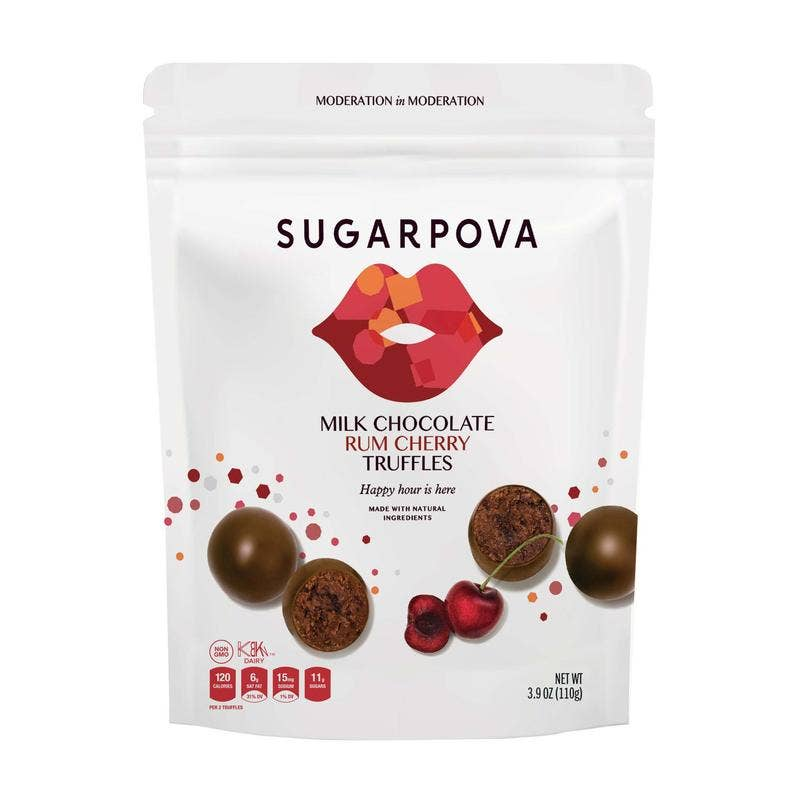 Milk Chocolate/Rum Cherry Truffles || Sugarpova || Beautybar