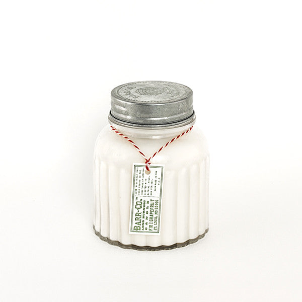 apothecary jar candle - fir & grapefruit scent