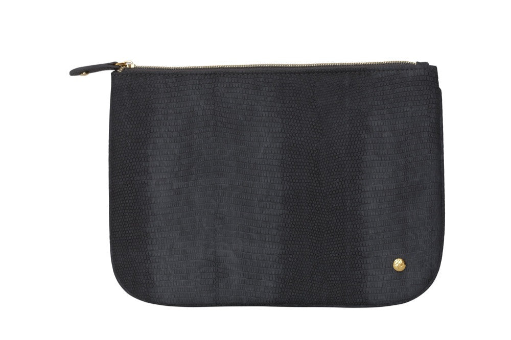 large flat pouch - galapagos black || stephanie johnson