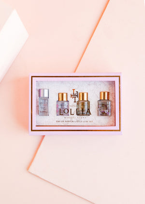 little luxe eau de parfum set || lollia || beautybar