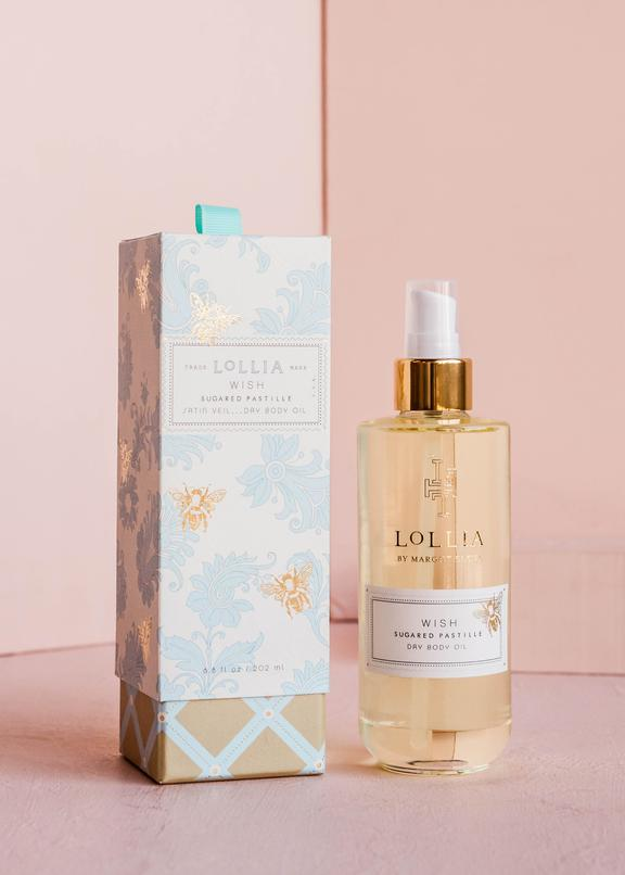 wish dry body oil || lollia || beautybar