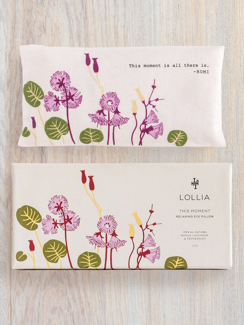 this moment lavender herb eye pillow || lollia || beautybar