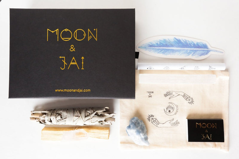 BALANCE ritual kit with blue calcite || moon & jai