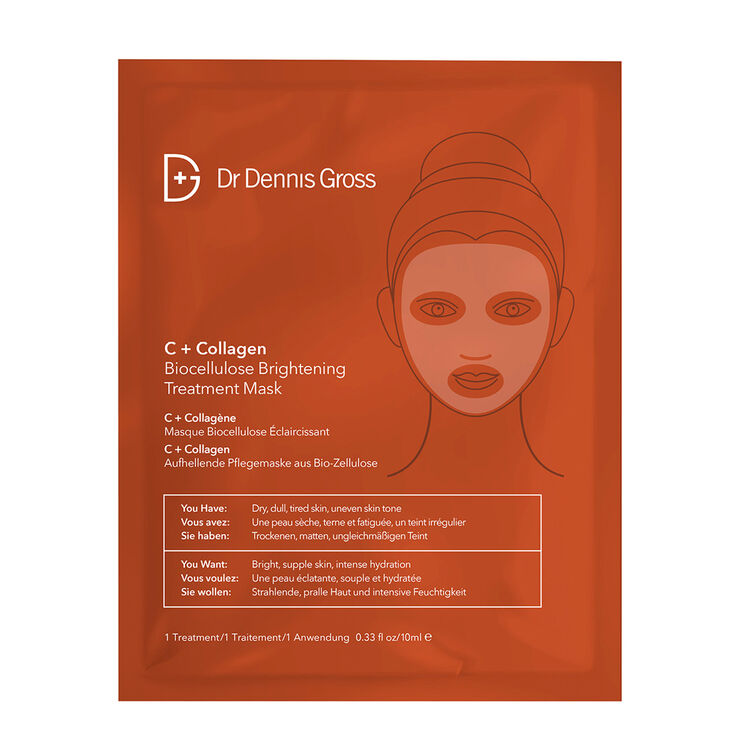 c+ collagen biocellulose face mask || dr. dennis gross