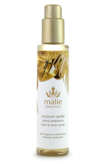 linen & room spray - coconut vanilla || malie organics