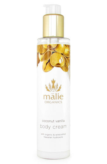 coconut vanilla body cream || malie organics || beautybar