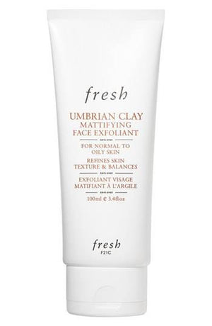 umbrian clay mattifying face exfoliant || fresh || beautybar